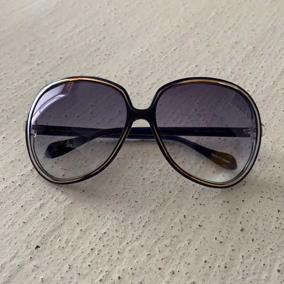 Oliver Peoples Sofiane sunglasses in navy and gold